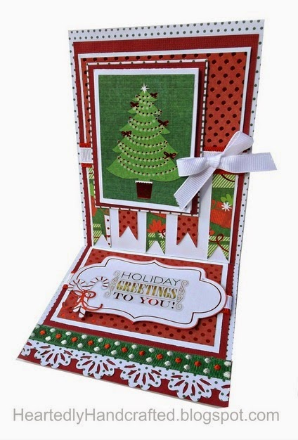 Christmas Easel Card with a Couple of Surprises