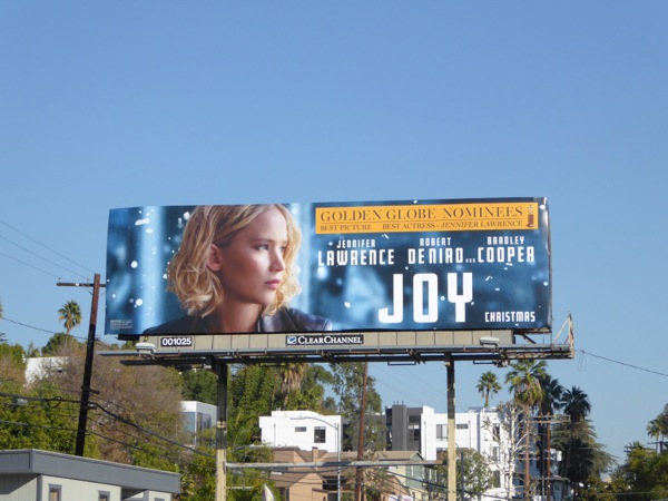 Joy Golden Globe nomination billboard