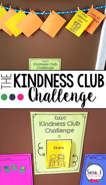 The Kindness Club Challenge is a great activity to help teach kids how to be kind and ways that we show kindness at home and at school.