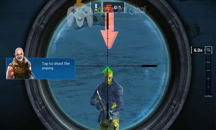 تحميل لعبة القناص Sniper Fury للكمبيوتر والموبايل