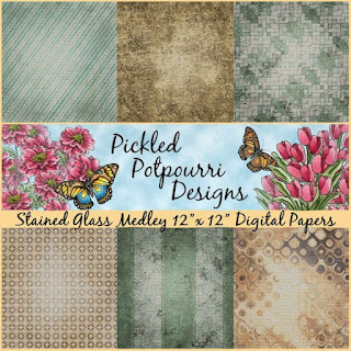 Stained Glass Medley Digital Papers Download