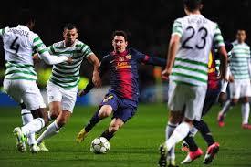 Lionel Messi in Action against Celtic
