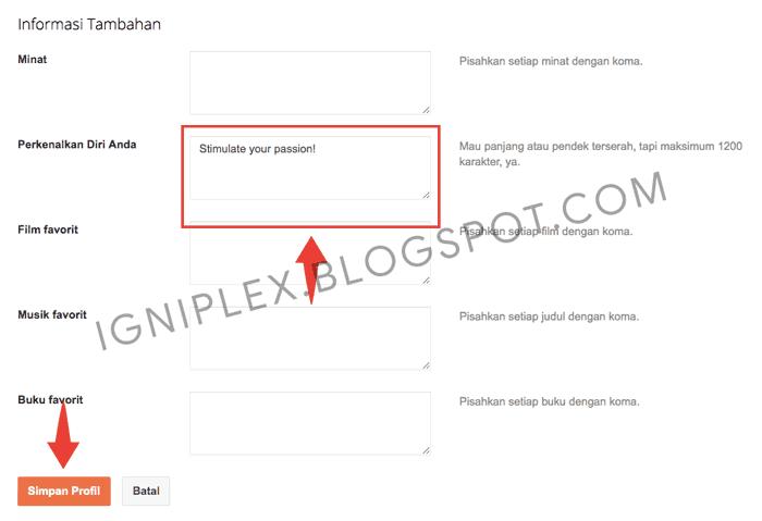 Edit Profil Blogger