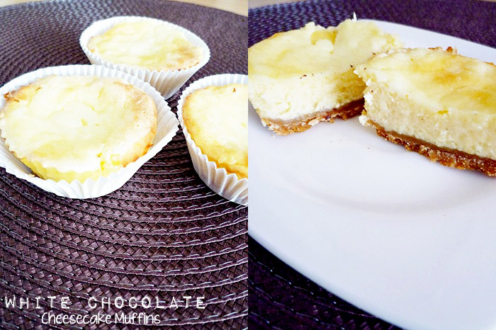 White Chocolate Cheesecake Muffins