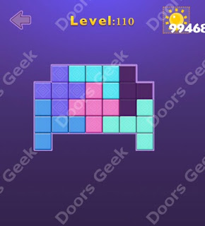 Cheats, Solutions, Walkthrough for Move Blocks Easy Level 110