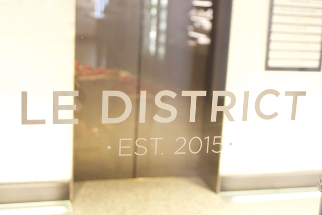 Le District signage