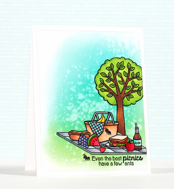 Sunny Studio Stamps: Summer Picnic Card by Stephanie Klauck.