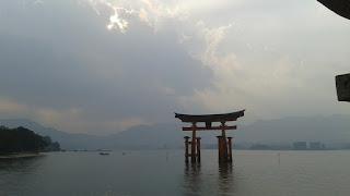 Atardecer en el O-Torii de Miyajima