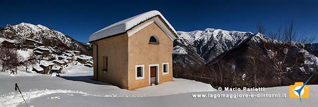 Panoramica di cangili con la chiesetta