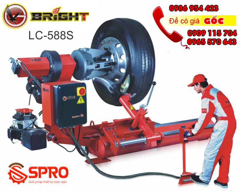 Giá máy tháo vỏ xe tải, máy ra vào lốp ô tô tải cỡ lớn bright LC588S