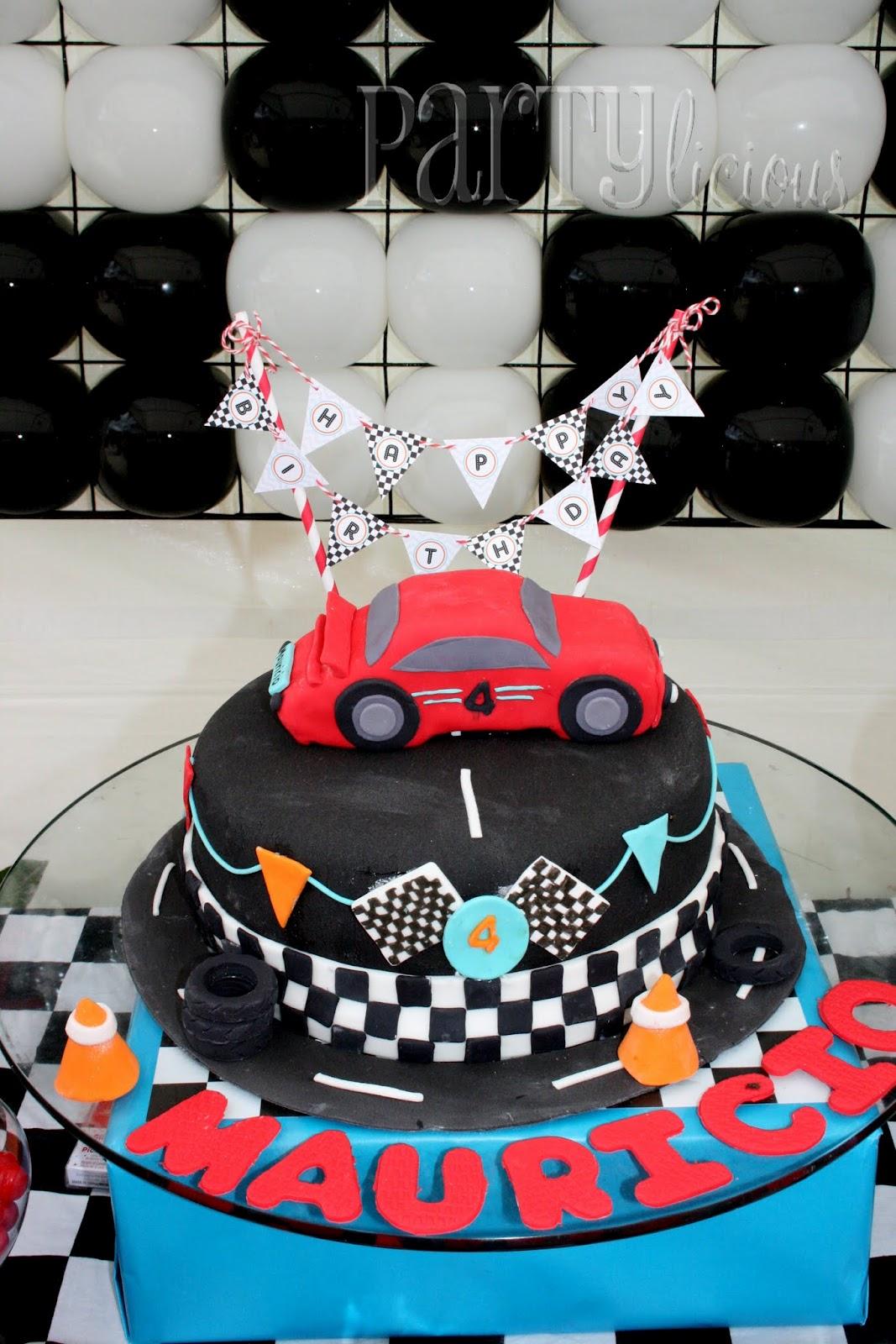 Partylicious Events Pr Mauricio S Race Car 4th Birthday