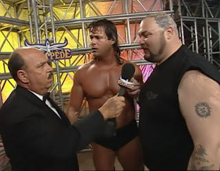 WCW Spring Stampede 2000 - Bam Bam Bigelow interrupted Mike Awesome's promo