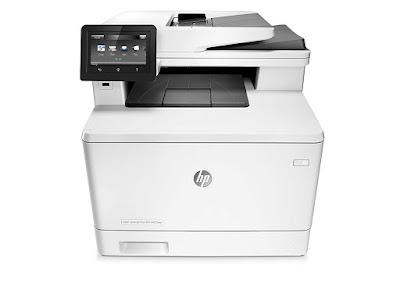 fdw Multifunction Wireless Color Laser Printer amongst Duplex Printing HP LaserJet Pro M477fdw Driver Downloads