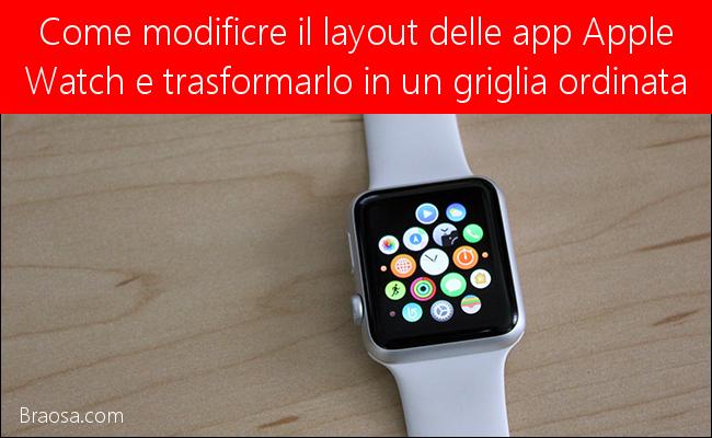 come ordinare le app del menu Apple Watch e visualizzarle in in lista