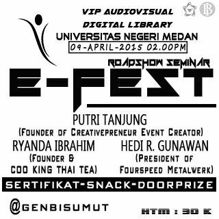 E-Fest Medan Creative di Digital Library Unimed