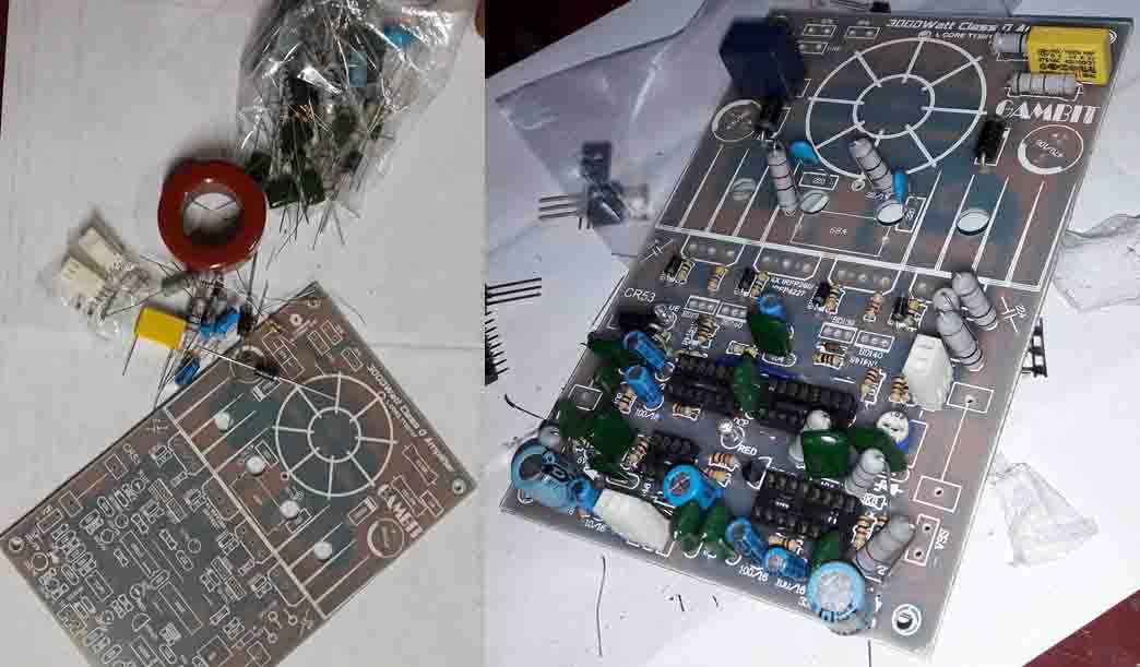 3000 Watts Power Amplifier Class D Mosfet IRFP260  IRFP4227  Electronic Circuit