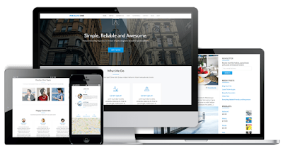 One Page Responsive Wordpress Themes parallax
