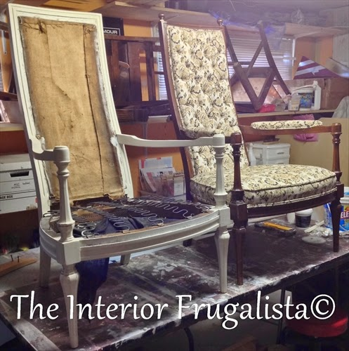 Touring Through Blogland antique chairs in the process of a makeover