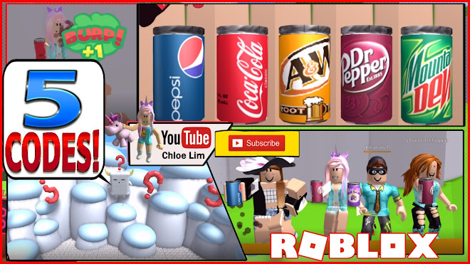 Roblox Soda Drinking Simulator Gameplay! 5 CODES and TOO MUCH SODA! BURP!