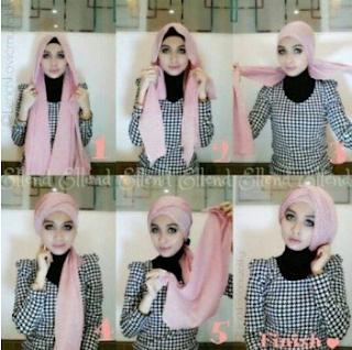 Model hijab untuk wisuda yang pertama