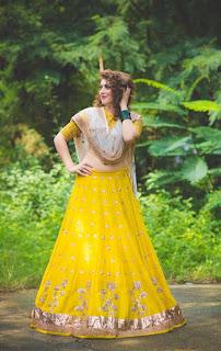 Hansika Pictureshoot Stills in Yellow Lehenga 3