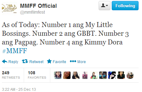 MMFF 2013 Opening Day Results