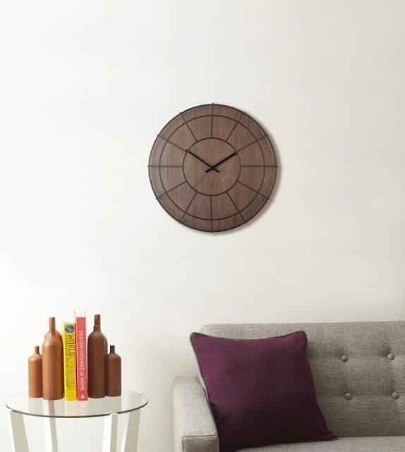 настенные часы круглый циферблат из дерева