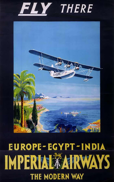 vintage everyday Vintage British Aviation Posters between