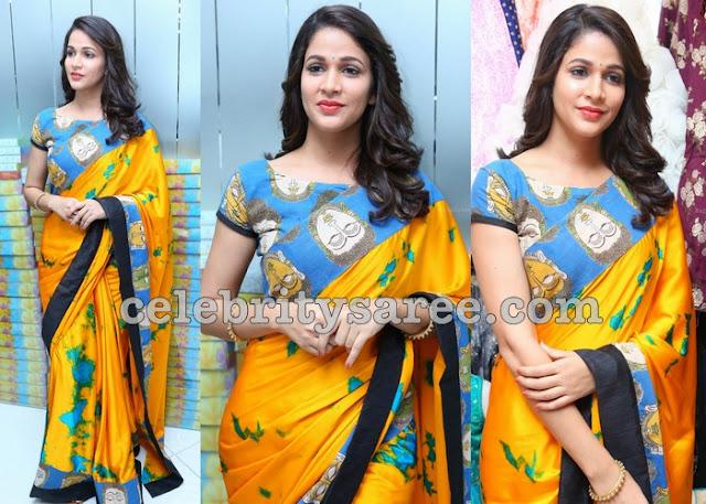 Lavanya Tripati Shibori Saree
