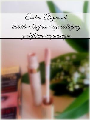 Eveline Argan oil, korektor kryjąco-rozświetlający z olejkiem arganowym