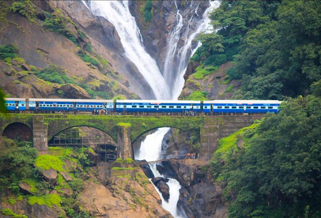 Dudhsagar Waterfalls Bridge