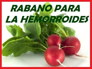 RABANO PARA LA HEMORROIDES