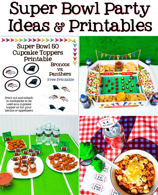 Super Bowl Football Party Ideas, Recipes, and Free Printables