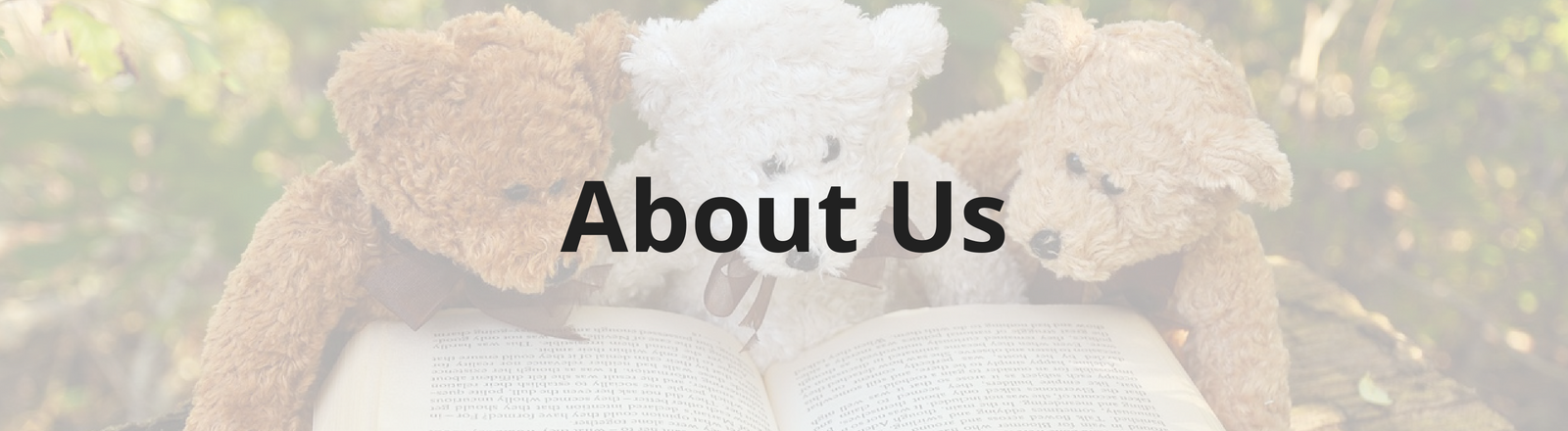 About us banner for landing page