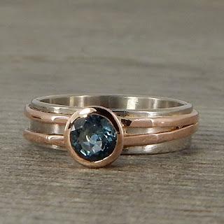 asymmetrical sapphire ring