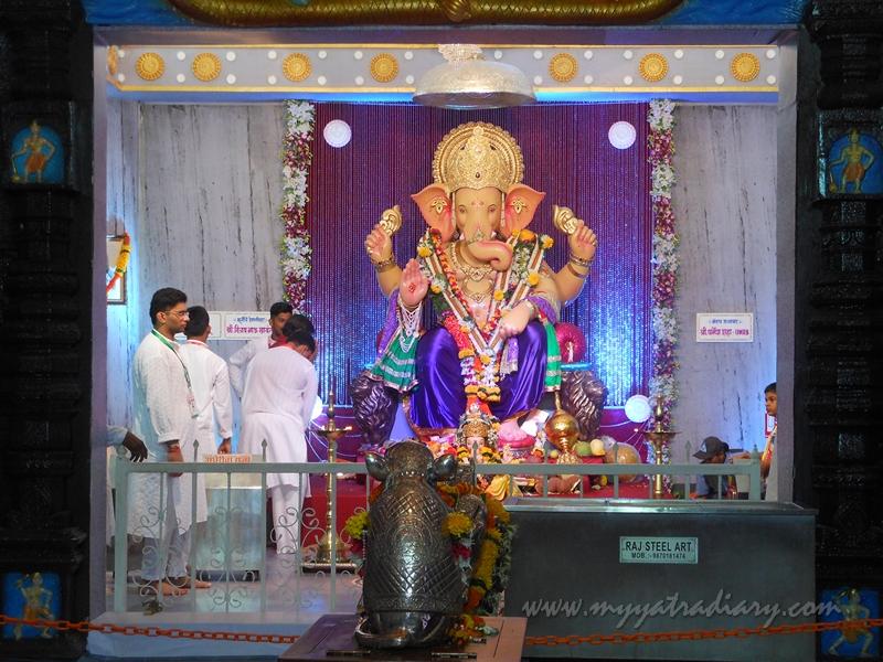 Andhericha Raja Ganesha pandal, Mumbai from a distance