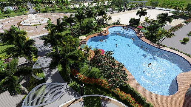 Bể bơi ngoài trời tại An Bình City