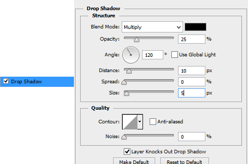 Drop-shadow-settings-for-text
