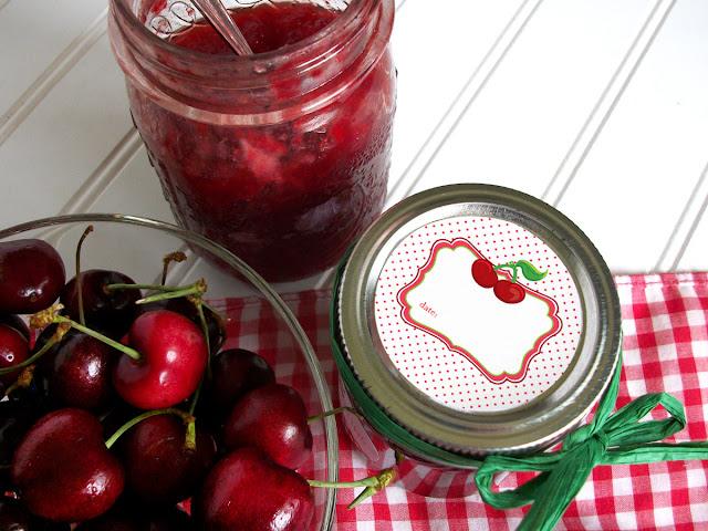 Cute Cherry Canning Jar Labels