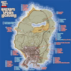 GTA Online Helicopters and Airplanes Locations