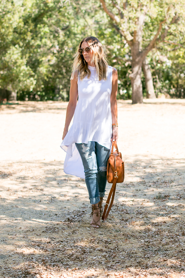 white vici flowy top
