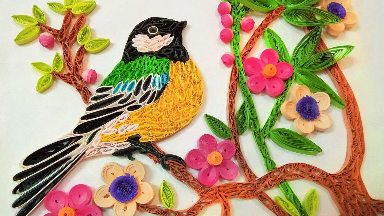 Paper Quilling Wall Decorations A Beautiful Bird Paper Quilling