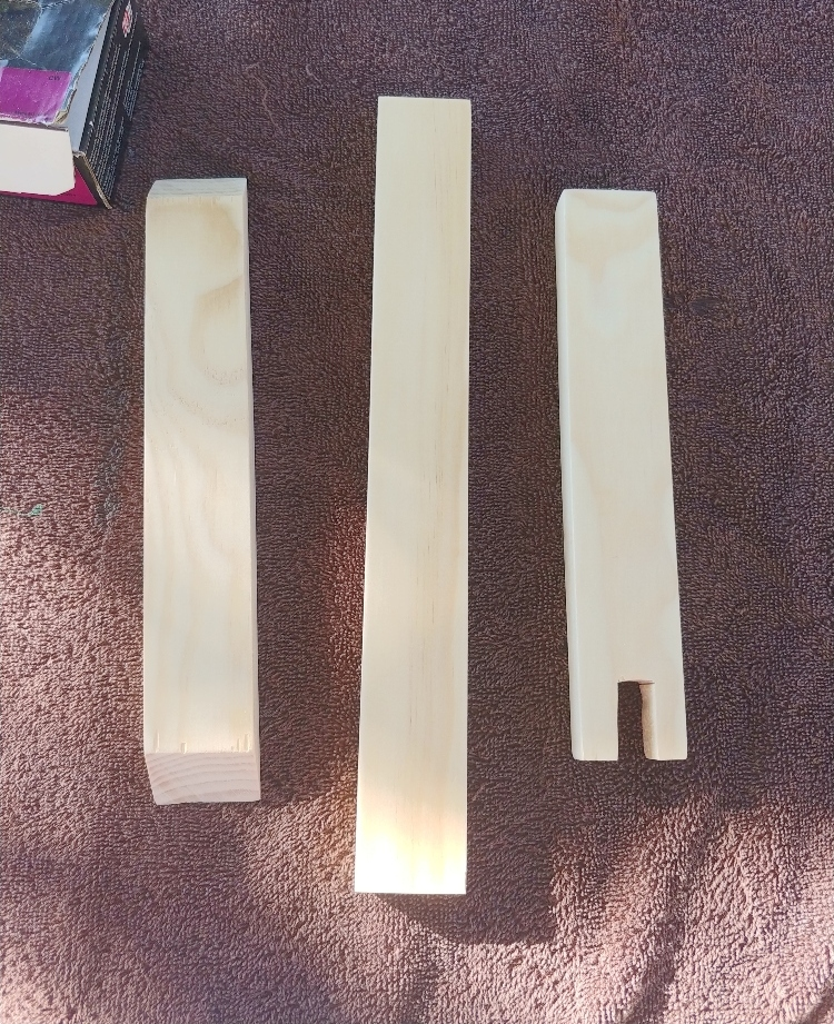 wood cut for bracket light