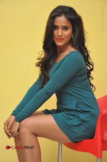 Telugu Actress Prasanthi Stills in Green Short Dress at Swachh Hyderabad Cricket Press Meet  0067.JPG