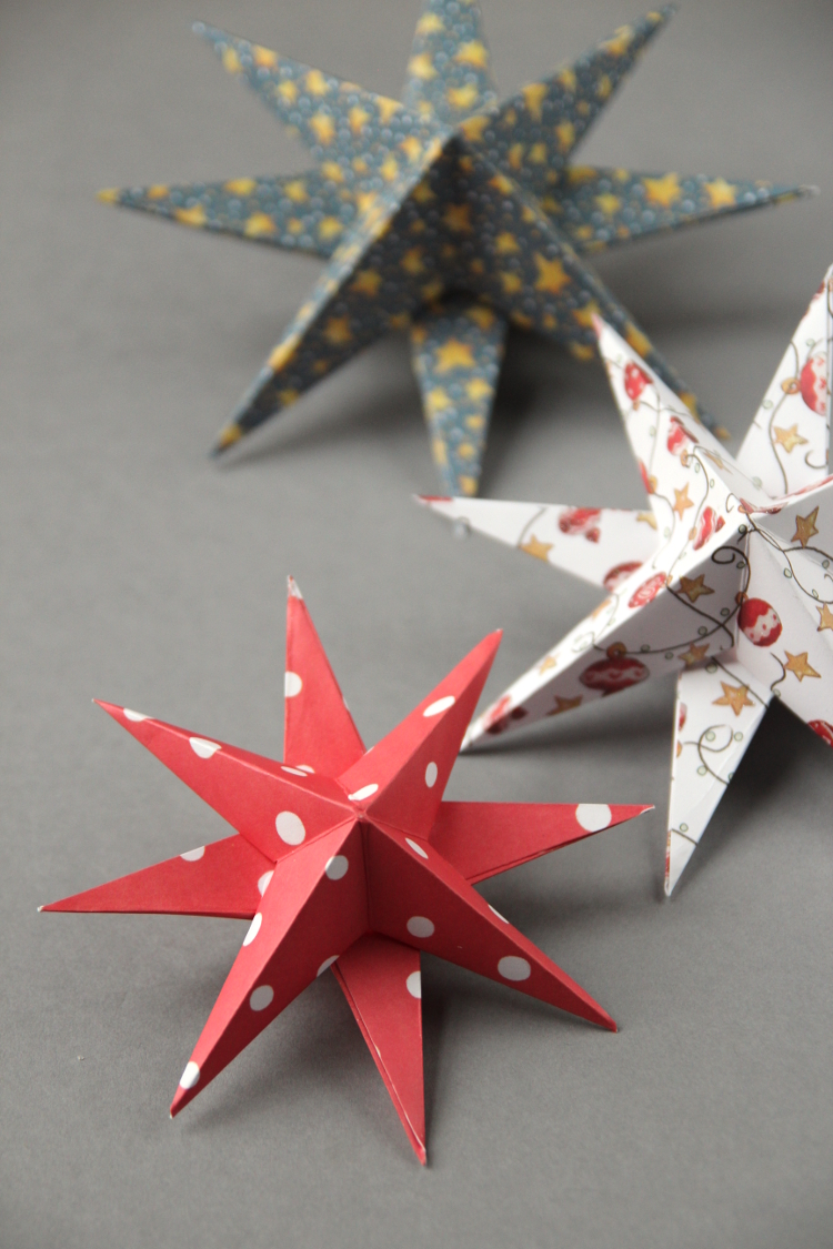 Diy 3d Paper Star Christmas Decorations Gathering Beauty