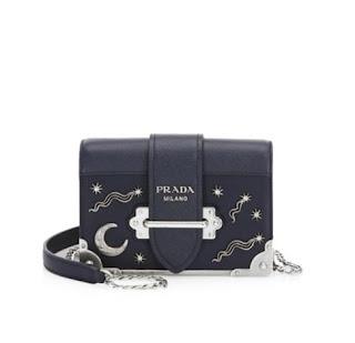 c1185dec94c9 Prada Cahier Studded Saffiano   Leather Shoulder Bag