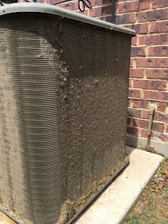 dirty condenser coil, ac system, air conditioning unit, central heating and air