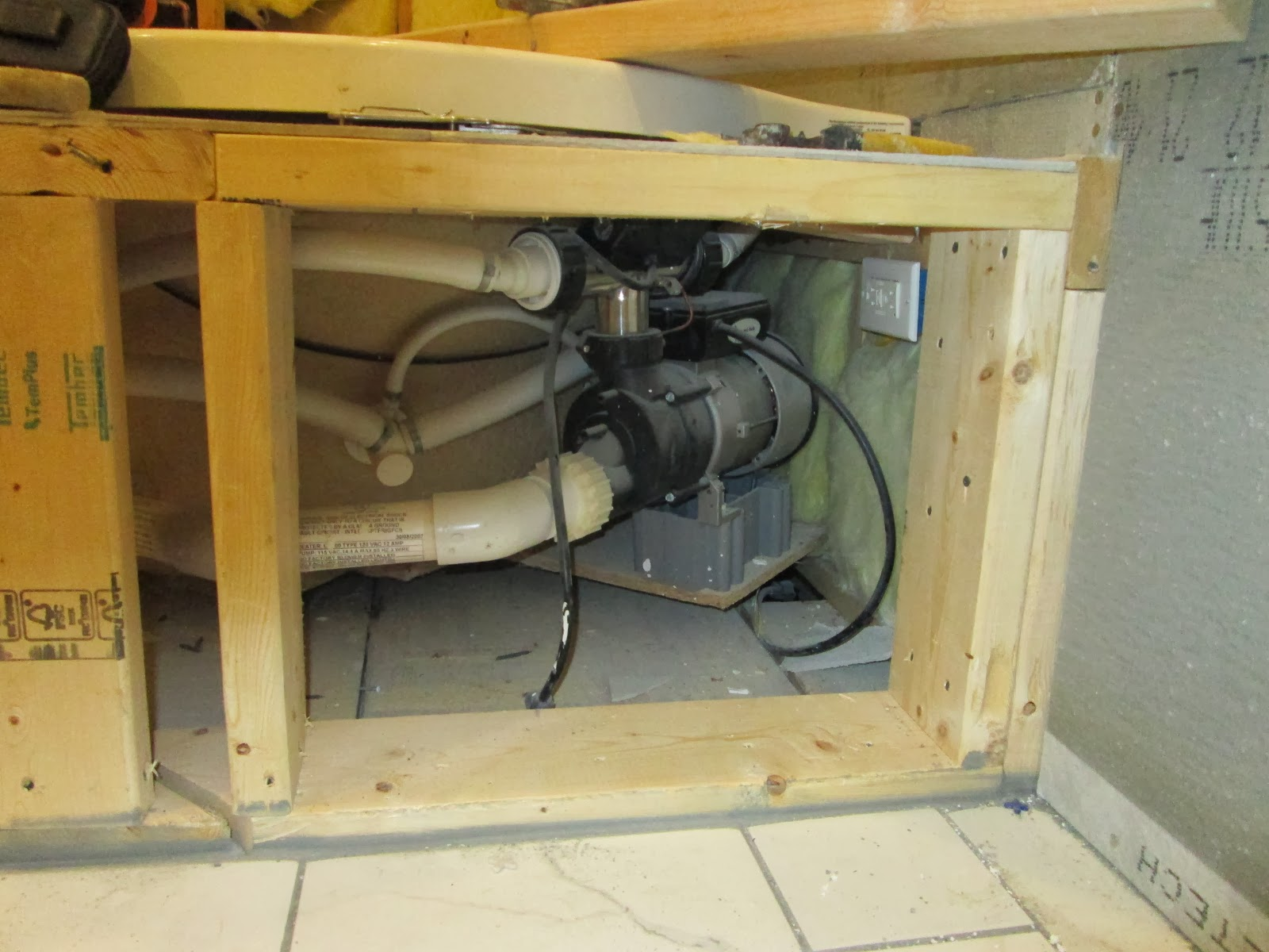 How to build a simple access panel door for motor access for Motor for jacuzzi tub