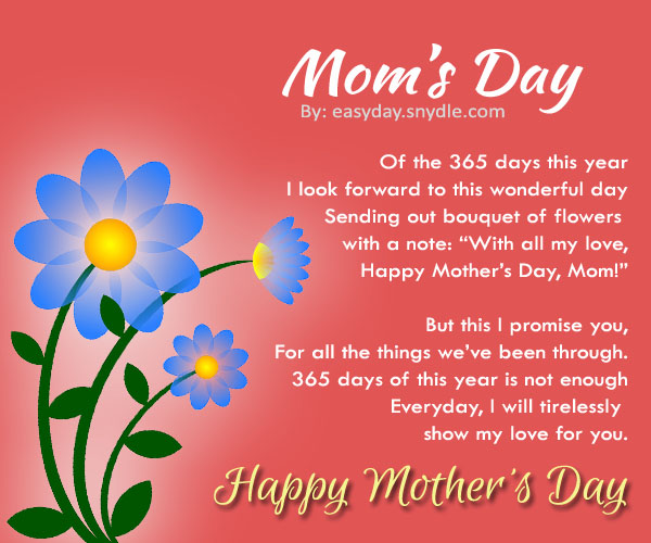 Mother Day Poems From Daughter