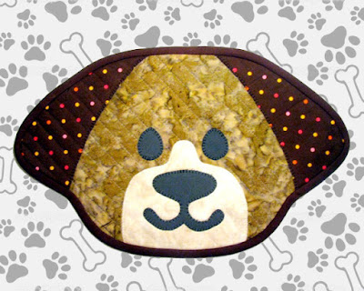 Little Puppy Quilted Placemat Pattern by Monica Curry